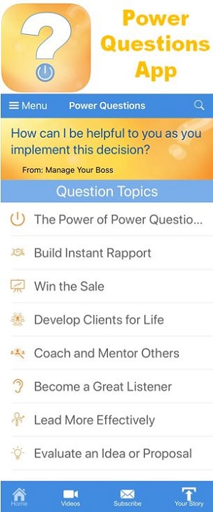 AN INVALUABLE TOOL FOR ANY PROFESSIONAL – THE NEW POWER QUESTIONS SMARTPHONE APP thumbnail