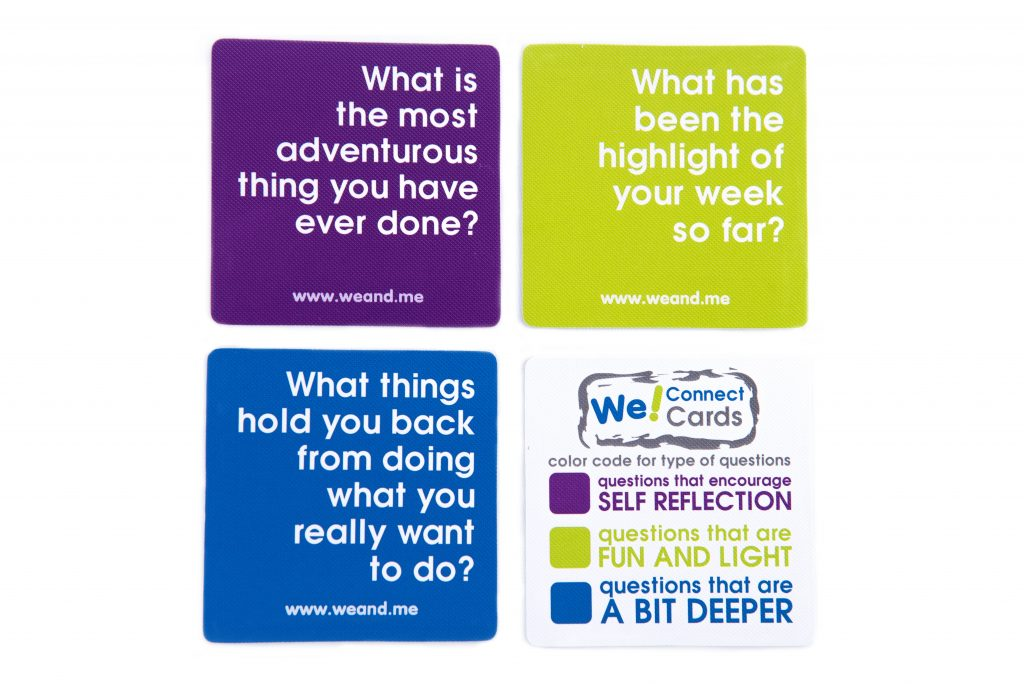 We! Connect Cards Questions Color Code